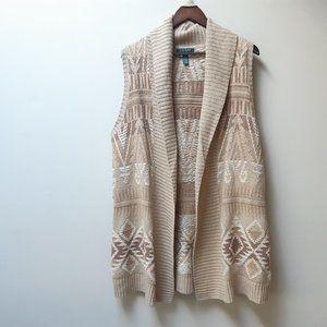 Ralph Lauren southwest belted sweater vest